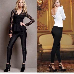New Victoria's Secret Leather & Ponte Leggings